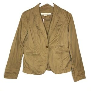 JCrew Chino Cotton Twill Tan Blazer Jacket